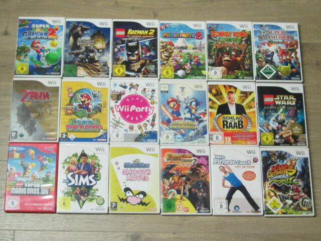 Nintendo Wii Jeux Zelda, New Mario Galaxy Kart party, Smash Bros. Donkey Kong