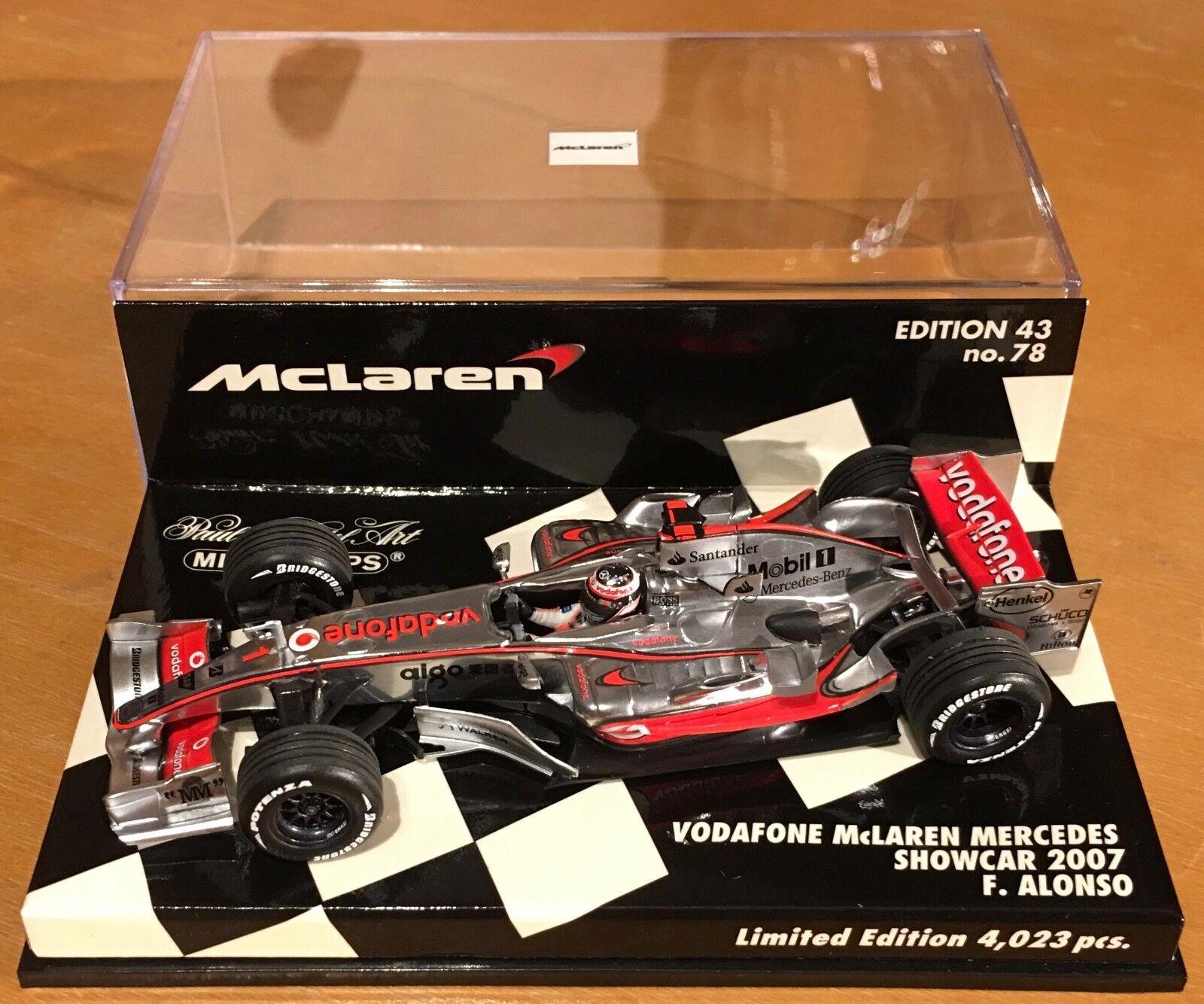 Minichamps 1 43 Vodaphone McLaren Mercedes MP4-22 Alonso - Valencia Showcar
