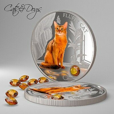Otocolobus Manul 1 Oz Silver Proof Coin Fiji 2013 $2 Dogs /& Cats IV Wild Cat