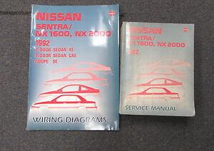 1992 nissan sentra nx 1600 nx 2000 nx1600 nx2000 service. Black Bedroom Furniture Sets. Home Design Ideas