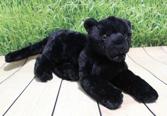Wild Republic Laying Black Jaguar 12 Plush Cuddlekins Stuffed