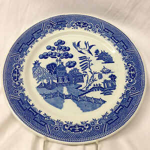 Image is loading CARIBE-CHINA-BLUE-WILLOW-DINNER-PLATE-10-1-  sc 1 st  eBay & CARIBE CHINA BLUE WILLOW DINNER PLATE 10 1/2\