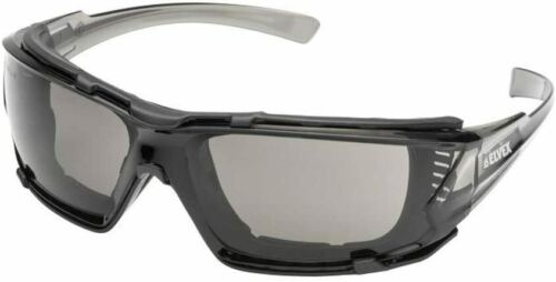 Elvex Go Specs IV Smoke//Gray Anti Fog Safety Glasses Sun EVA Foam Padded Z87+