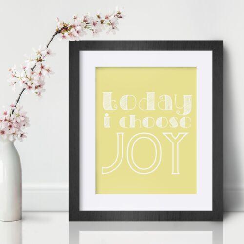Joy Inspirational Wall Art Print Motivational Quote Poster Decor Encouragement