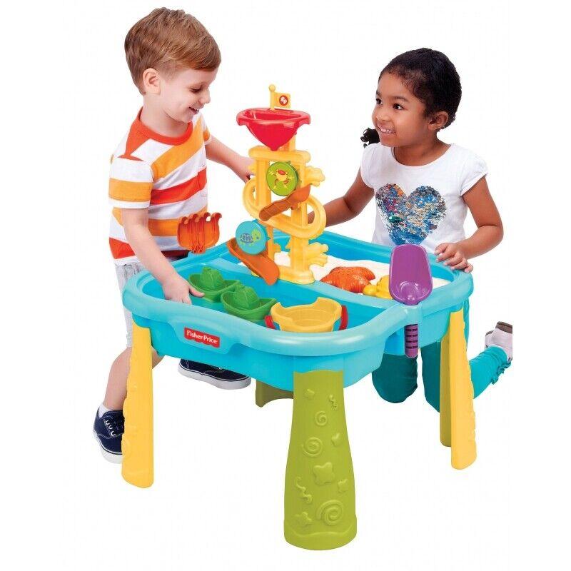 Fisher Price Sandkasten Mehrfarbig Wasserwelt Sandkasten 2in1 Tisch Set zubehör