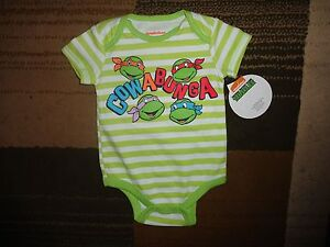7b1994fcf Details about TMNT Teenage Mutant Ninja Turtle Cowabunga Infant Baby  Bodysuit Jumpsuit Romper