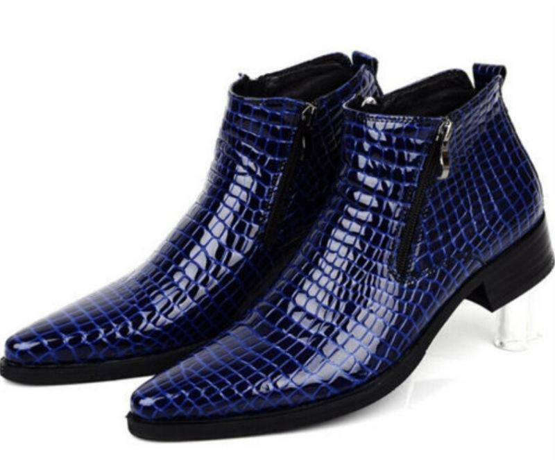 all'ingrosso a buon mercato Mens Real Real Real Leather Pointy Toes Formal Wedding Dress Formal Ankle stivali scarpe Dimensione  vendita all'ingrosso