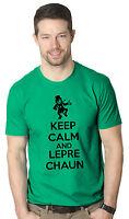 Keep Calm And Leprechaun T Shirt Funny St Patricks Day Shirt