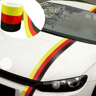 1Pc Front M Sport Grille Vinyl Stripe Decal German Flag Sticker Decorate For BMW