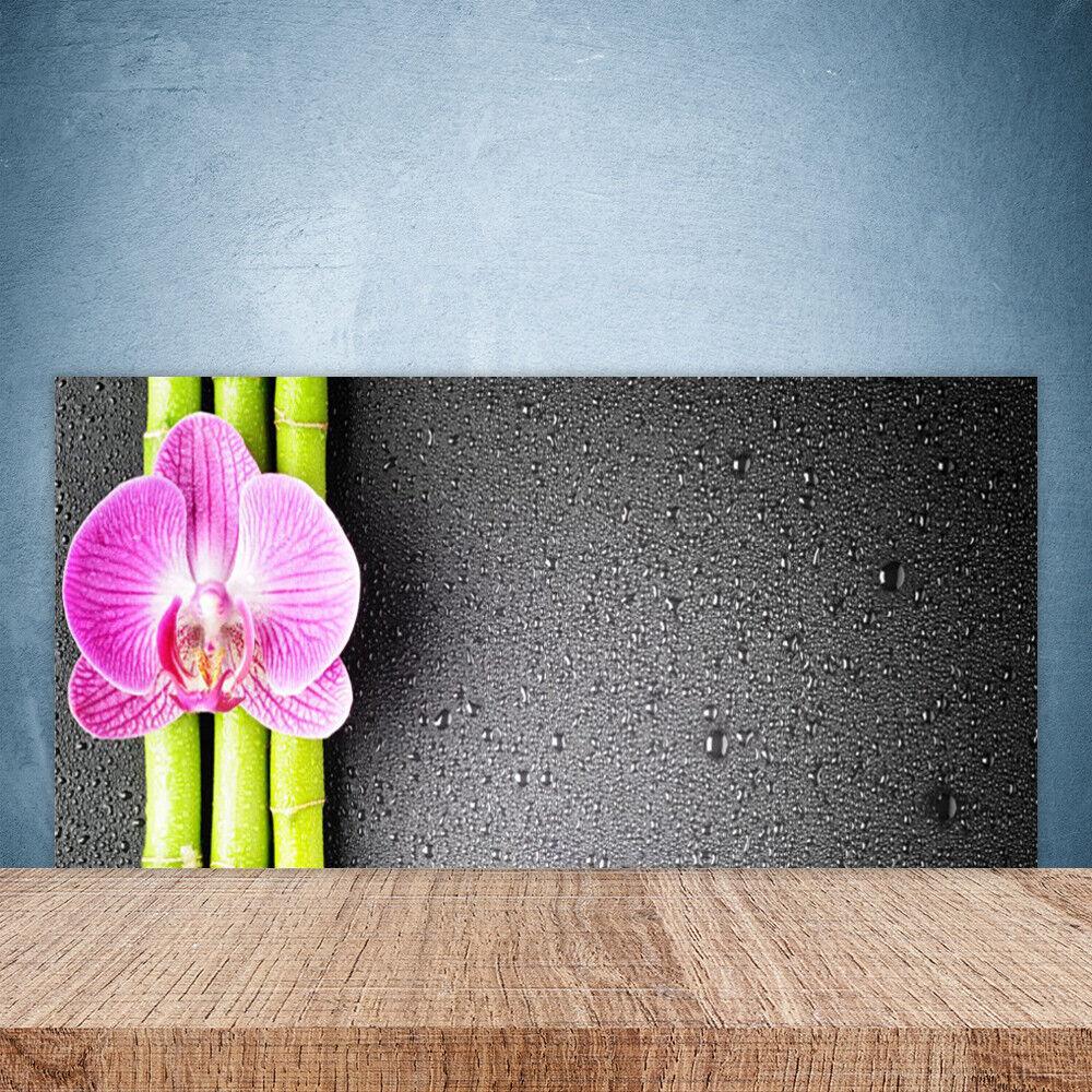 Crédence de cuisine en verre Panneau Paroi 100x50 Floral Fleur Bambou