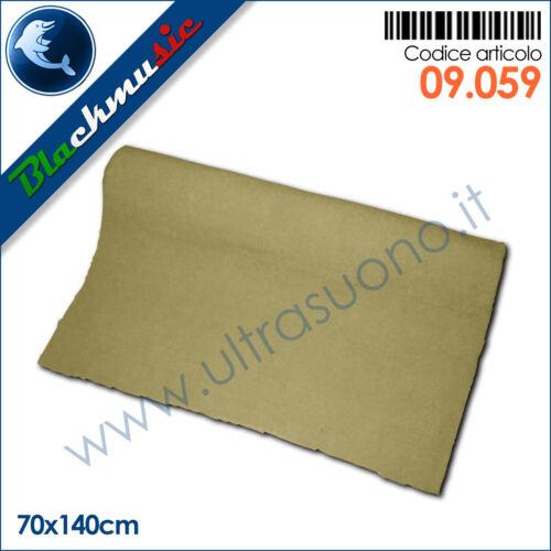 Moquette acustica liscia beige 70x140cm per interni subwoofer e pianali