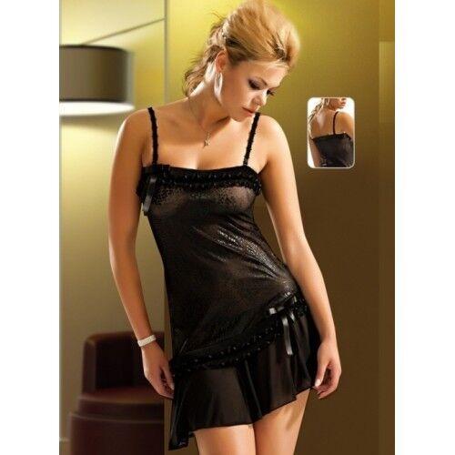 Qualität Nachtkleid Satin /& Spitze- L.J: 2085 Babydoll