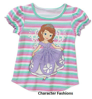 Sofia The First Disney Princess Purple Tunic Top Shirt 2T 3T 4T Toddler Clothes*