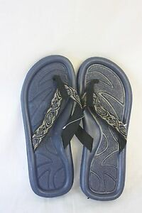 Sandals STAR Bay Sandals Navy With Printed Fabric Straps NEW SZ 9