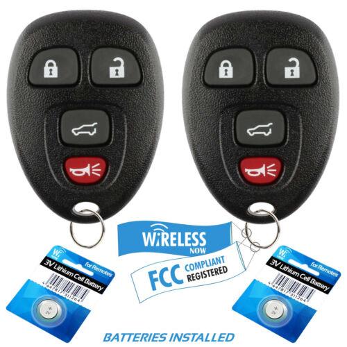 2 Car Key Fob Keyless Entry Remote 4Btn For 2012 2013 2014 2015 Buick Enclave