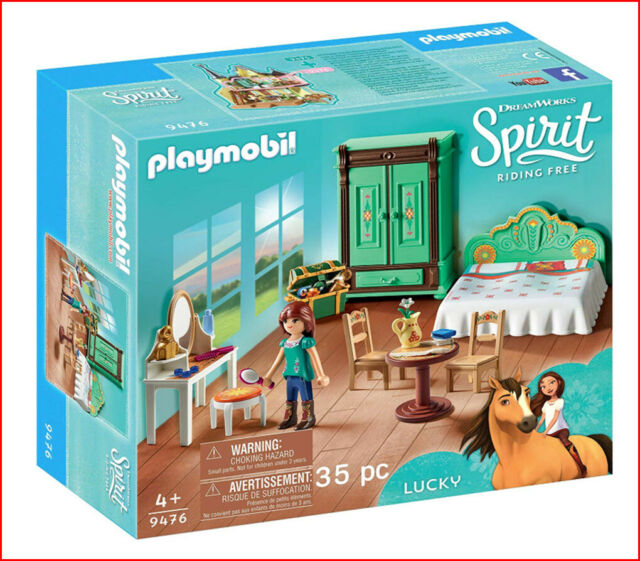PLAYMOBIL Spirit Riding Free - LUCKY'S BEDROOM room 35 Pieces Model 9476 ❤️NEW❤️