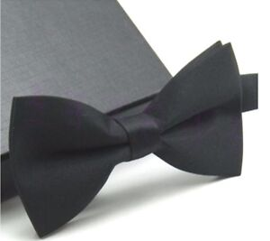Men/'s Classic Formal Butterfly Pre-tied Black Bow tie Bowtie Wedding Party Prom