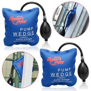 2x Automotiv Air Pump Wedge Bag Inflatable Home Door Car