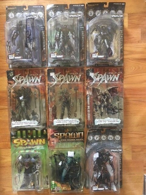 LOT of 9 SPAWN Action Figures -McFarlane-  BRAND NEW IN BOXES