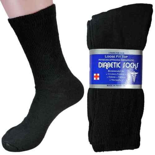 Lot of 6 Diabetic Crew Circulatory Socks Health Men's Cotton 9-13