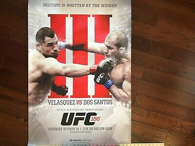 UFC 166 OFFICIAL FIGHT POSTER CAIN VELASQUEZ VS JUNIOR DOS SANTOS ...