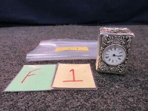 E-G-L-Paris-Carriage-Shelf-Mantle-Clock-Silver-Case-Emile-George-Lamaille-1800s
