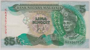 Mazuma *M924 Malaysia 6th $5 NK4567639 Last Prefix With Cross GEF