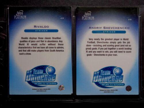 FUTERA TEAM UNIVERSE WORLD STARS 2001-2002 *PLEASE CHOOSE CARDS*