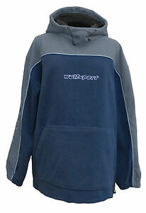 Wulfsport Adult Fleece Navy Grey Hooded Motocross Leisure MX Medium