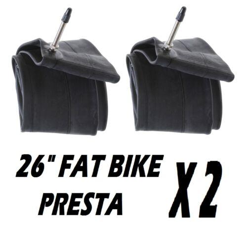 """2 x 26/"""" Fat Bike Presta Valve Intérieur Cycle Tube 4.0 4.5 4.9 Haute Pression"""