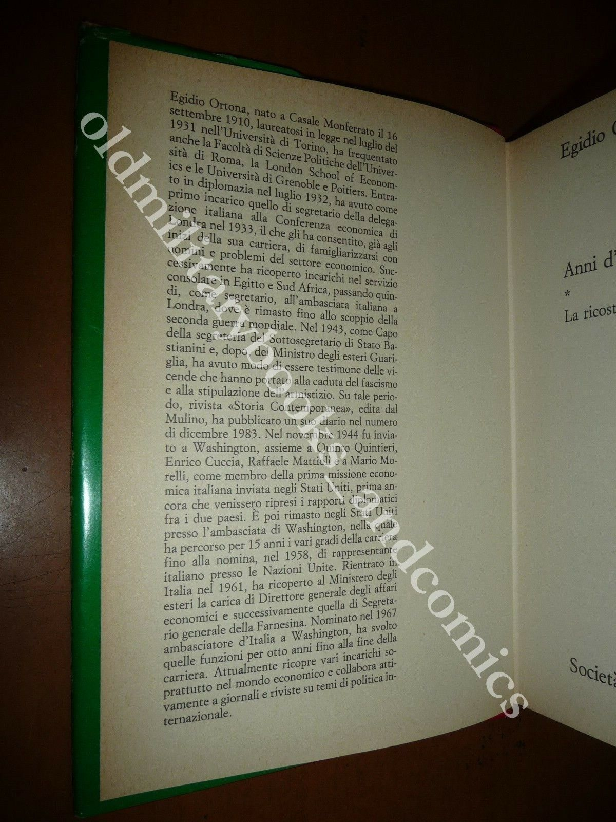 ANNI D'AMERICA EGIDIO ORTONA 1984 LA RICOSTRUZIONE 1944-1951 WWII DOPOGUERRA
