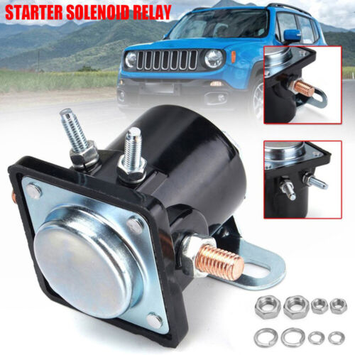 12V Starter Solenoid Relay Switch 4-Terminal HeavyDuty SW3 For Ford Jeep Lincoln