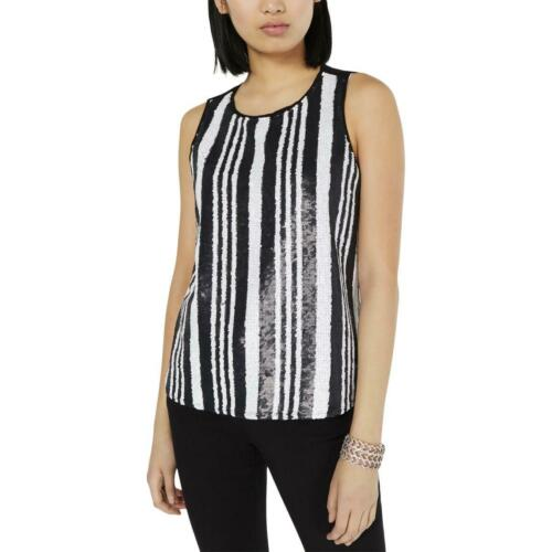 INC Womens Sequined Striped Blouse Tank Top Shirt BHFO 0510