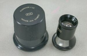 Flubacher + Co. 8X Scale Magnifier Loupe with Case,  Swiss Made,
