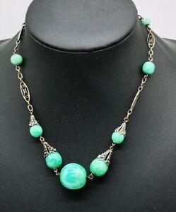 Period-Art-Deco-Peking-Glass-Necklace-Czechoslovakia-Neiger