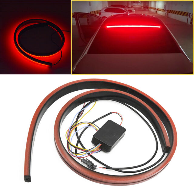100cm Flexible Led Brake Light Strip Car Rear Window High Mount Red Stop Lamp