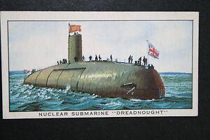 HMS-Dreadnought-Royal-Navy-Submarine-Hunter-Killer-Vintage-Card-VGC