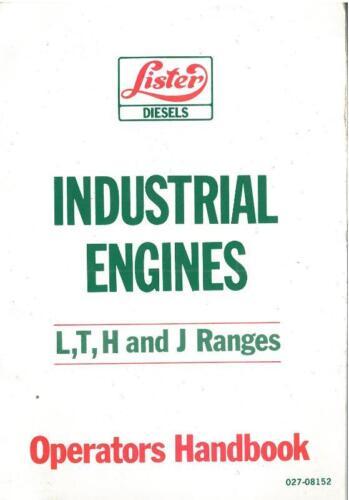 hr//2 /& 3 hrw4-6 Manual del operador LV Tr Ts Tl Lister Industrial Motor LT