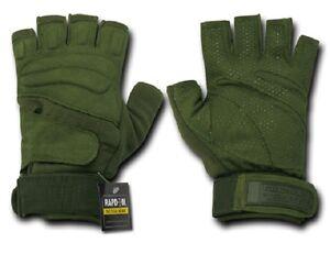 Dynamique Us Rapdom Lightweight Half Doigt Army Military Basiques Gants Olive S/small-afficher Le Titre D'origine Performance Fiable