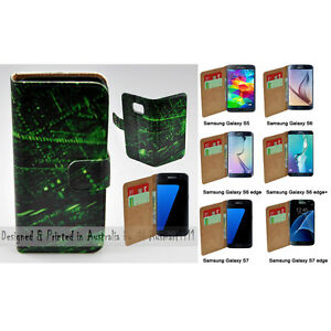 For-Samsung-Galaxy-Series-Matrix-Theme-Print-Wallet-Mobile-Phone-Case-Cover