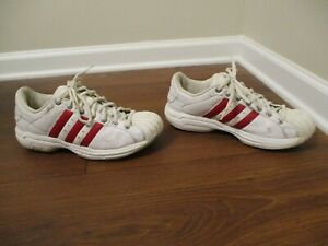 725bf86c710 Classic 2002 Used Worn Size 10 Adidas Superstar 2G Shoes White Red ...