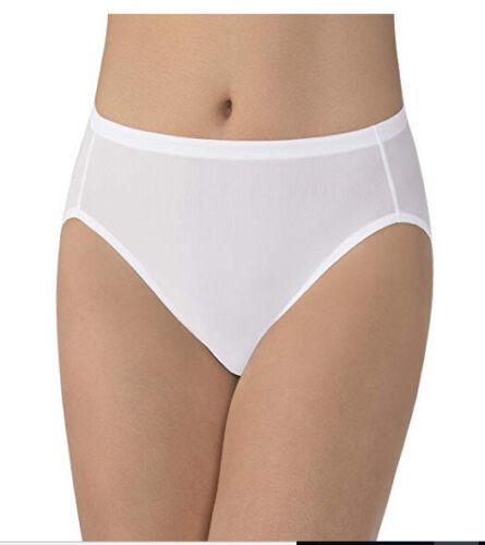 Vanity Fair Women/'s 13124 Cooling Touch Hi-Cut Panty White 9//2XL