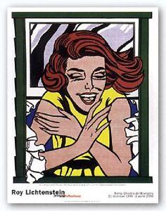POP ART PRINT - Girl At Window by Roy Lichtenstein Poster 35.5x27.5 ...