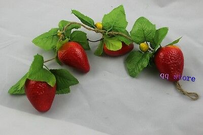 1p artificial string strawberry faux fruit fake house kitchen party hotel decor