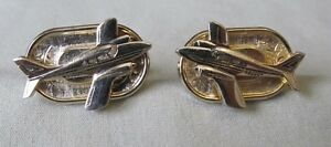 Men-Vintage-CESSNA-AIRPLANE-CUFFLINK-Costume-Jewelry-Accessory-D34