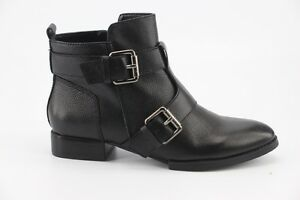 194-NEW-Kelsi-Dagger-Kolete-Black-Tumbled-Leather-Ankle-Boots-size-7-5-Booties