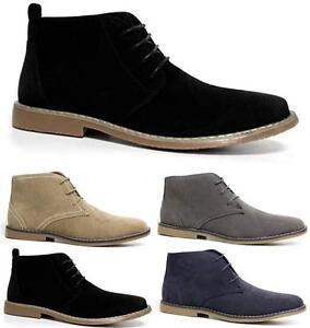 Mens Faux Suede Casual Retro Walking Chukka Lace Desert Ankle Boots Shoes Size Krankheiten Zu Verhindern Und Zu Heilen
