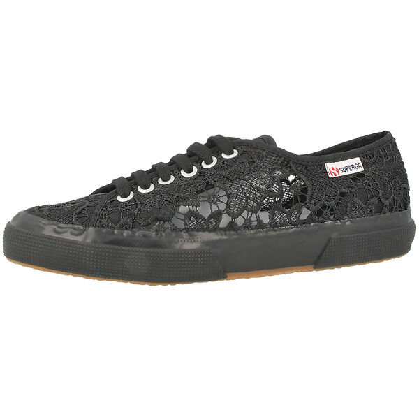 SUPERGA 2750 MACRAMEW WOMEN SCHUHE BLACK S008YA0-996 FREIZEIT FASHION SNEAKER