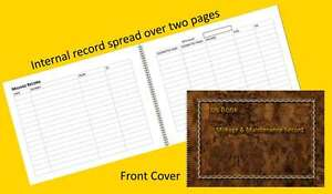 vehicle mileage record log book burnt walnut effect a6 a5