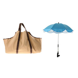 Storage Bag Outdoor Tote Large Holder /& Sun and Rain Canopy Umbrella Clip-on